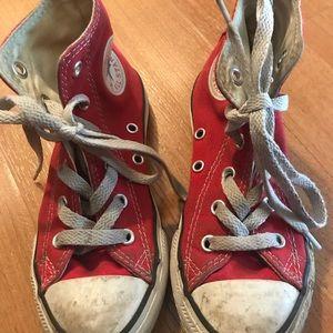 Little Girls Red Hi Top Converse